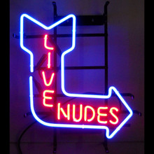LIVE NUDES NEON SIGN