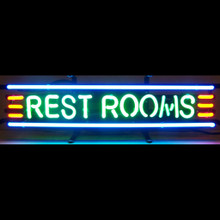 RESTROOMS NEON SIGN