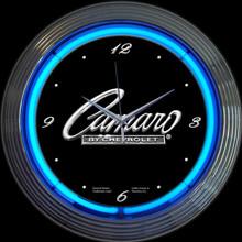 GM CAMARO SCRIPT NEON CLOCK