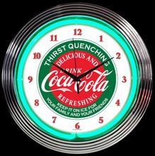 COCA-COLA® EVERGREEN NEON CLOCK