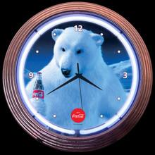COCA-COLA® POLAR BEAR NEON CLOCK