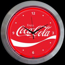 COCA-COLA® WAVE NEON CLOCK