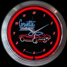 CORVETTE SR NEON CLOCK