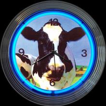 COW NEON CLOCK