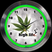 HIGH LIFE NEON CLOCK