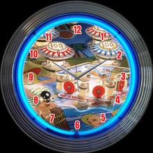 PINBALL NEON CLOCK