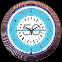FORD THUNDERBIRD NEON CLOCK