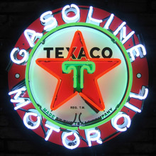 TEXACO GASOLINE MOTOR OIL NEON SIGN