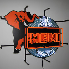 HEMI 50TH ANNIVERSARY NEON SIGN (MOPAR)