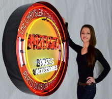 MOPAR 36 INCH NEON SIGN IN METAL CAN