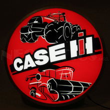 "CASE IH TRACTOR 15"" BACKLIT LED LIGHTED SIGN"