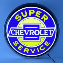 """SUPER CHEVROLET SERVICE 15"""" BACKLIT LED LIGHTED SIGN"""