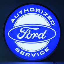 "FORD AUTHORIZED SERVICE 15"" BACKLIT LED LIGHTED SIGN"