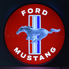 "FORD MUSTANG 15"" BACKLIT LED LIGHTED SIGN"