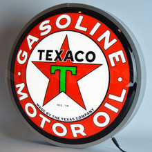 "TEXACO MOTOR OIL 15"" BACKLIT LED LIGHTED SIGN"