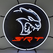HELLCAT SRT NEON SIGN WITH BACKING