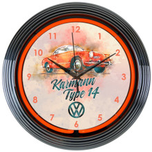 VOLKSWAGEN KARMANN TYPE 14 NEON CLOCK