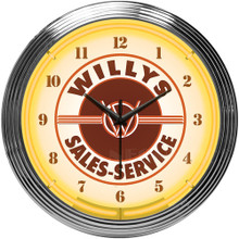 JEEP WILLYS NEON CLOCK