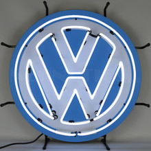 VOLKSWAGEN ROUND NEON SIGN WITH BACKING