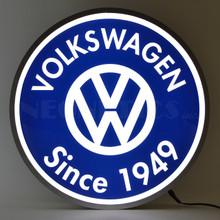 """VOLKSWAGEN SINCE 1949 15"""" BACKLIT LED LIGHTED SIGN"""