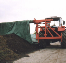 Compost cover roller