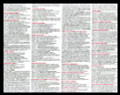 Laminated Bible Apologetics Cheat Sheet