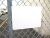 """5 pack 10""""x14"""" Aluminum Sign Blanks -sign blank mounted on fence"""