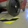 SafetyTac Hazard Corner markers around fan