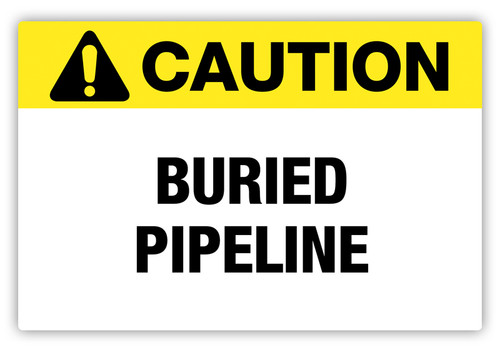Caution - Buried Pipeline Label
