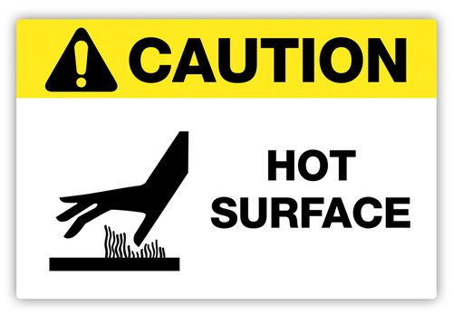 Caution - Hot Surface Label
