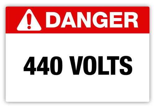 Danger - 440 Volts Label
