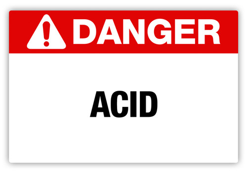 Danger - Acid Label