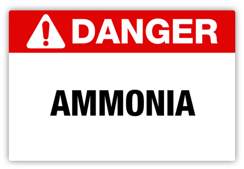 Danger - Ammonia Label
