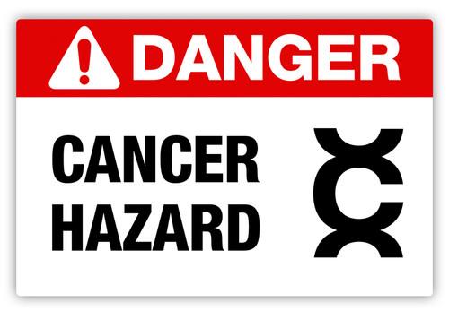 Danger - Cancer Hazard Label