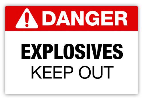 Danger - Explosives Label