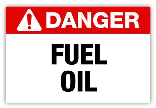 Danger - Fuel Oil Label