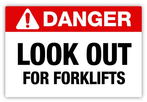 Danger - Forklifts Label