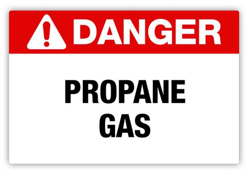 Danger - Propane Gas Label