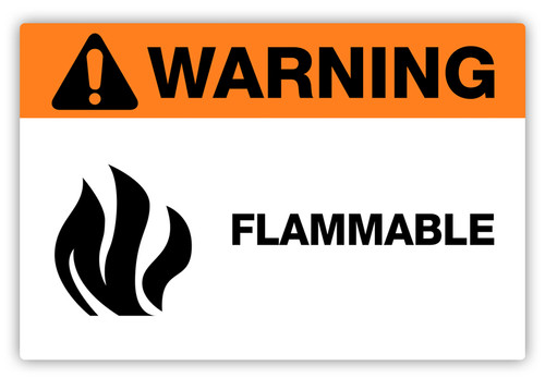 Warning - Flammable Label