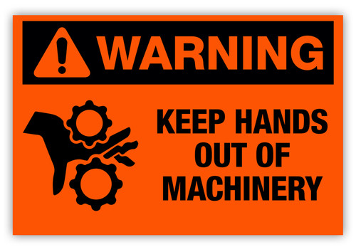 Warning - Keep Hands Out Label
