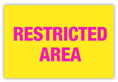 Restricted Area Label