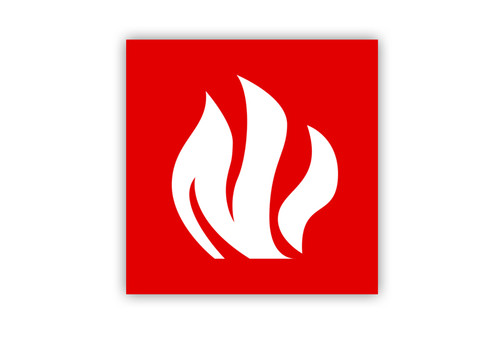 Flame Symbol Label