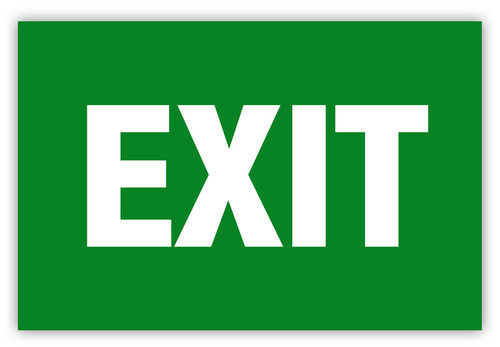 Exit Label (Green)