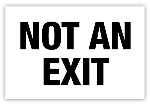 Not An Exit Label