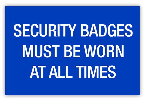 Security Badges Label
