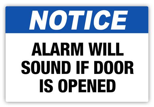 Notice - Alarm Will Sound Label