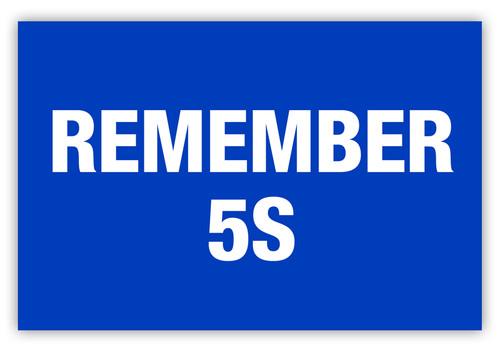 Remember 5S Label