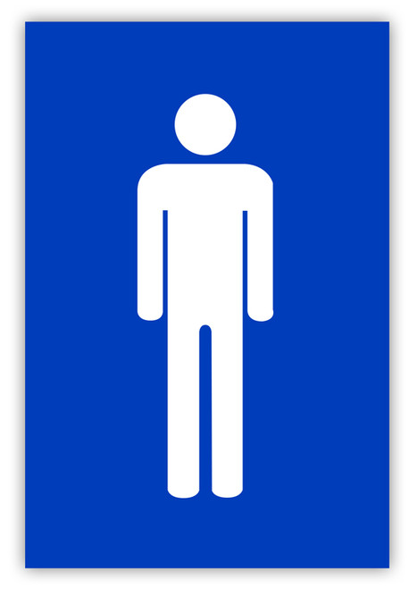 Men's Restroom Label