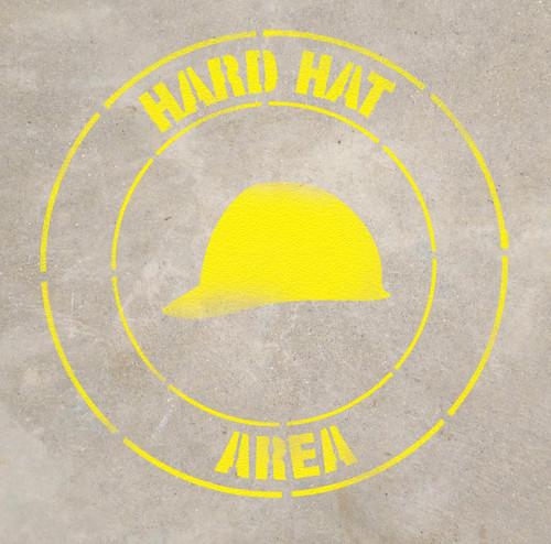 Hard Hat Area Stencil