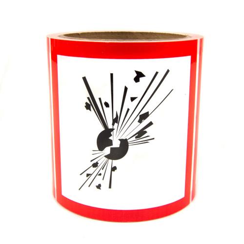 """GHS Labels - Explosive 4"""""""